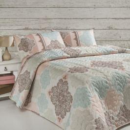 Sada prošívaného přehozu přes postel a polštáře Single 155, 160 x 220 cm
