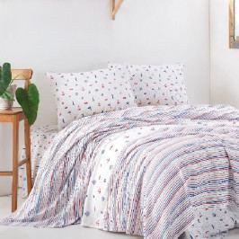 Přehoz přes postel na dvoulůžko s povlaky na polštáře a prostěradlem Henry, 220 x 240 cm