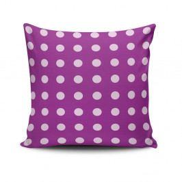 Polštář s výplní Purple Dots, 45x45cm