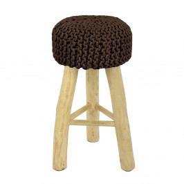 Barová židle HF Living Nature s hnědým potahem