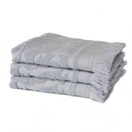 Sada 3 modrých ručníků z organické bavlny Seahorse,60x110cm