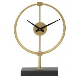 Stolní hodiny ve zlaté barvě Mauro Ferretti Glam