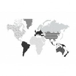 Nástěnná samolepka Dekornik Map Dark 180x107cm
