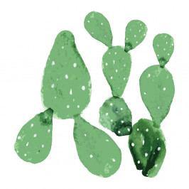 Sada 2 nástěnných samolepek Dekornik Green Cacti