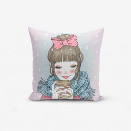Povlak na polštář s příměsí bavlny Minimalist Cushion Covers Girlissimo, 45 x 45 cm