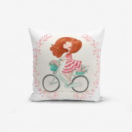 Povlak na polštář s příměsí bavlny Minimalist Cushion Covers Bike Girl, 45 x 45 cm