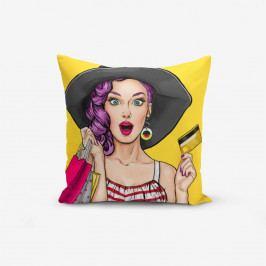 Povlak na polštář s příměsí bavlny Minimalist Cushion Covers Pop Art Women, 45 x 45 cm