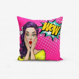 Povlak na polštář s příměsí bavlny Minimalist Cushion Covers Pop Art Wow, 45 x 45 cm