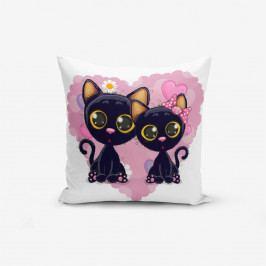 Povlak na polštář s příměsí bavlny Minimalist Cushion Covers Heart And Catcikler, 45x45cm