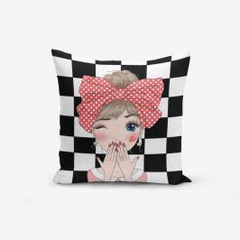 Povlak na polštář s příměsí bavlny Minimalist Cushion Covers Damali Fashion Girl Modern, 45 x 45 cm