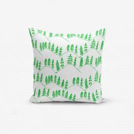 Povlak na polštář s příměsí bavlny Minimalist Cushion Covers Modern Agac Verde, 45 x 45 cm