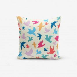 Povlak na polštář s příměsí bavlny Minimalist Cushion Covers Modern Birds, 45 x 45 cm