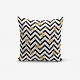 Povlak na polštář s příměsí bavlny Minimalist Cushion Covers Snowflake Zigzag, 45 x 45 cm