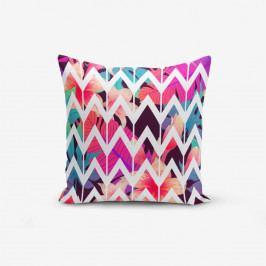 Povlak na polštář s příměsí bavlny Minimalist Cushion Covers Lotus Zigzag, 45 x 45 cm
