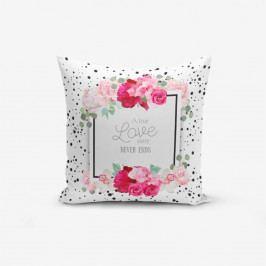 Povlak na polštář s příměsí bavlny Minimalist Cushion Covers A True Love Story, 45 x 45 cm
