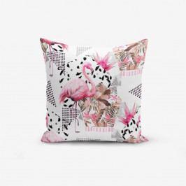 Povlak na polštář s příměsí bavlny Minimalist Cushion Covers Flamingo, 45 x 45 cm