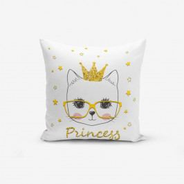Povlak na polštář s příměsí bavlny Minimalist Cushion Covers Princess Cat Modern, 45 x 45 cm