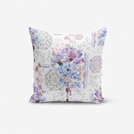 Povlak na polštář s příměsí bavlny Minimalist Cushion Covers Blue Purple Isleyen Carklar, 45 x 45 cm