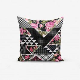 Povlak na polštář s příměsí bavlny Minimalist Cushion Covers Karma Flower, 45 x 45 cm