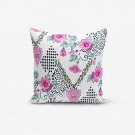 Povlak na polštář s příměsí bavlny Minimalist Cushion Covers Kare With Points Heart Kolye, 45 x 45 cm