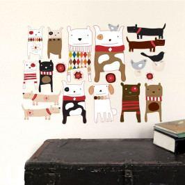 Znovu snímatelná samolepka Dogs, 59x40 cm