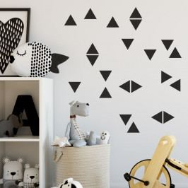 Sada černých samolepek na zeď North Carolina Scandinavian Home Decors Triangle
