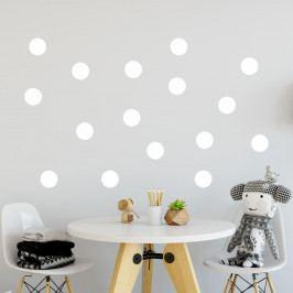Sada bílých samolepek na zeď North Carolina Scandinavian Home Decors Dot