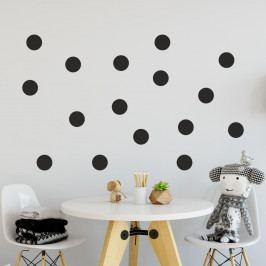 Sada černých samolepek na zeď North Carolina Scandinavian Home Decors Dot