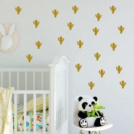 Sada žlutých samolepek na zeď North Carolina Scandinavian Home Decors Cacti