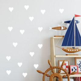 Sada bílých samolepek na zeď North Carolina Scandinavian Home Decors Hearth
