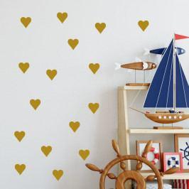 Sada žlutých samolepek na zeď North Carolina Scandinavian Home Decors Hearth