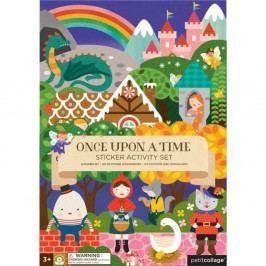 Skládací deska se znovupoužitelnými samolepkami Petit collage Fairy Tales