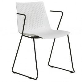 Sada 4 bílých jídelních židlí Marckeric Edda