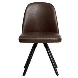 Sada 2 hnědých jídelních židlí Marckeric Natal