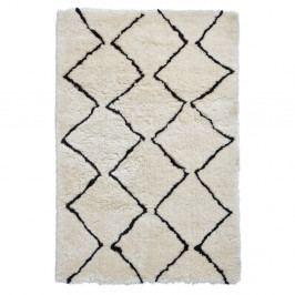 Béžovo-černý ručně tuftovaný koberec Think Rugs Morocco Lento Ivory & Black, 150 x 230 cm