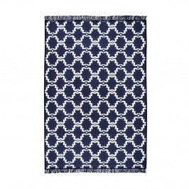 Modrobílý oboustranný koberec Homedebleu Risus, 80 x 150 cm