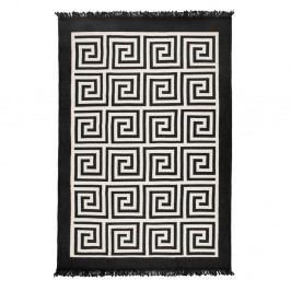 Oboustranný béžovočerný koberec Homedebleu Framed, 80x150cm