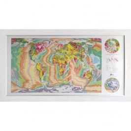 Magnetická mapa World Geology Map, 196x100cm