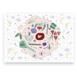 Puzzle z recyklovaných materiálů Pucle Jarná záhrada,200dílků