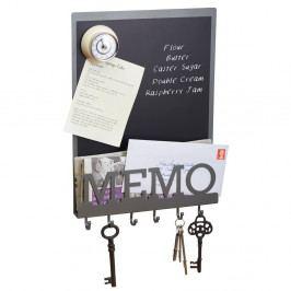 Magnetická popisovací tabule s háčky na klíče Kitchen Craft Living Nostalgia