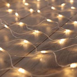 Transparentní LED světelný řetěz DecoKing Web, 200 světýlek, délka 2 m