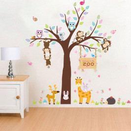 Nástěnná samolepka Ambiance Zoo Love, 105 x 105 cm