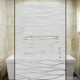 Samolepka na dveře sprchového koutu Ambiance The Sea, 100 x 55 cm