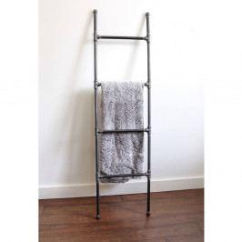 Černý kovový držák na ručníky Pippe