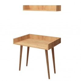 Pracovní stůl s dubovým dekorem Harmony, 90 x 60 cm