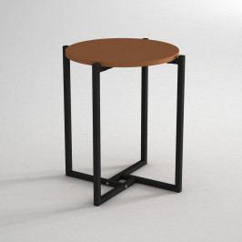 Odkládací stolek s deskou v koňakově hnědé barvě Noce, ⌀ 49 cm