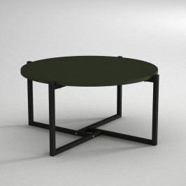 Konferenční stolek s deskou v tmavě zelené barvě Noce, ⌀ 68 cm