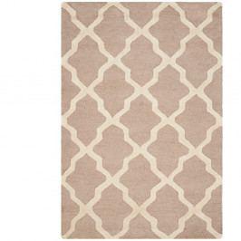 Béžový vlněný koberec Safavieh Ava 91x152cm