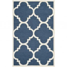 Modrý vlněný koberec Safavieh Clark, 91x152cm
