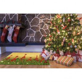 Vysoce odolný koberec Webtappeti Natale Albero, 60 x 110 cm